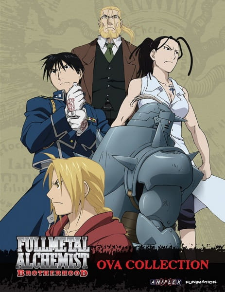 Fullmetal Alchemist: Brotherhood OVA Collection, Fullmetal Alchemist: Brotherhood OVA Collection,  Moumoku no Renkinjutsushi, The Blind Alchemist, Shinpuru na Hitobito, Simple People, The Tale of Teacher, Tales of the Master, Yet Another Man's Battlefield, FMA,  鋼の錬金術師