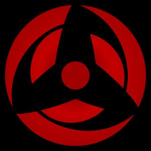 shape of hatake kakashi's sharingan  in naruto