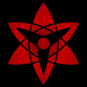 shape of uchiha sasuke's eternal mangekyou sharingan in naruto