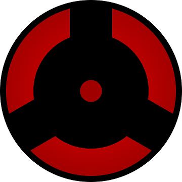 shape of uchiha izuna's mangekyou sharingan in  naruto