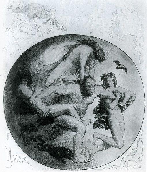 ymir mythology Lorenz Frølich norse