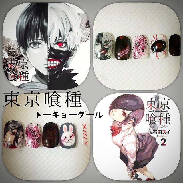 Tokyo Ghoul - Nail Art 1