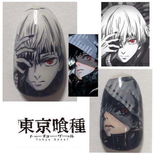 Tokyo Ghoul - Nail Art 2
