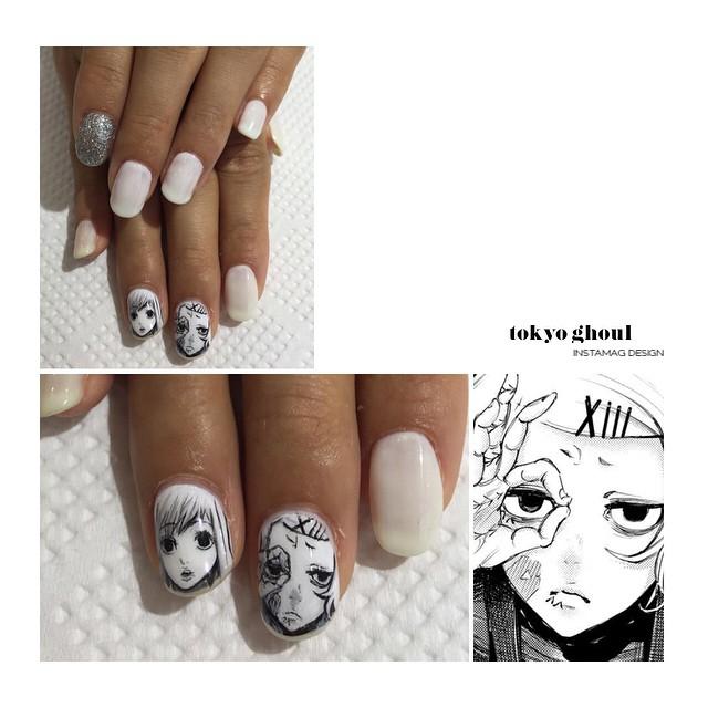 Tokyo Ghoul - Nail Art 4
