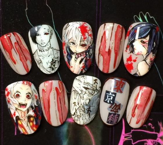 Tokyo Ghoul - Nail Art 5