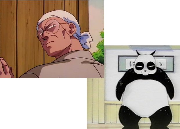 Ranma 1/2 Genma Before and afte
