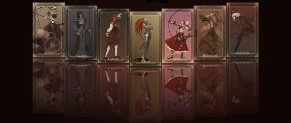 Fate/Stay Night Class Cards