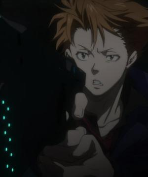Psycho-Pass - Shuusei Kagari holding gun
