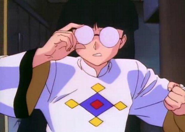 Ranma 1/2 Mousse adjusts his glasses