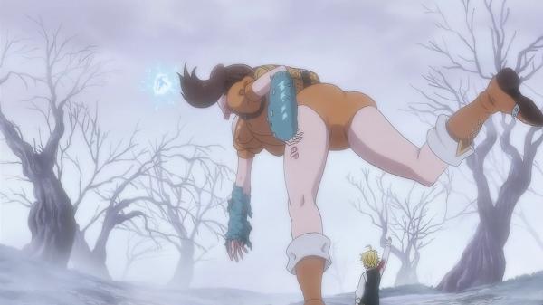 Nanatsu No Taizai Diane throwing Gilthunder
