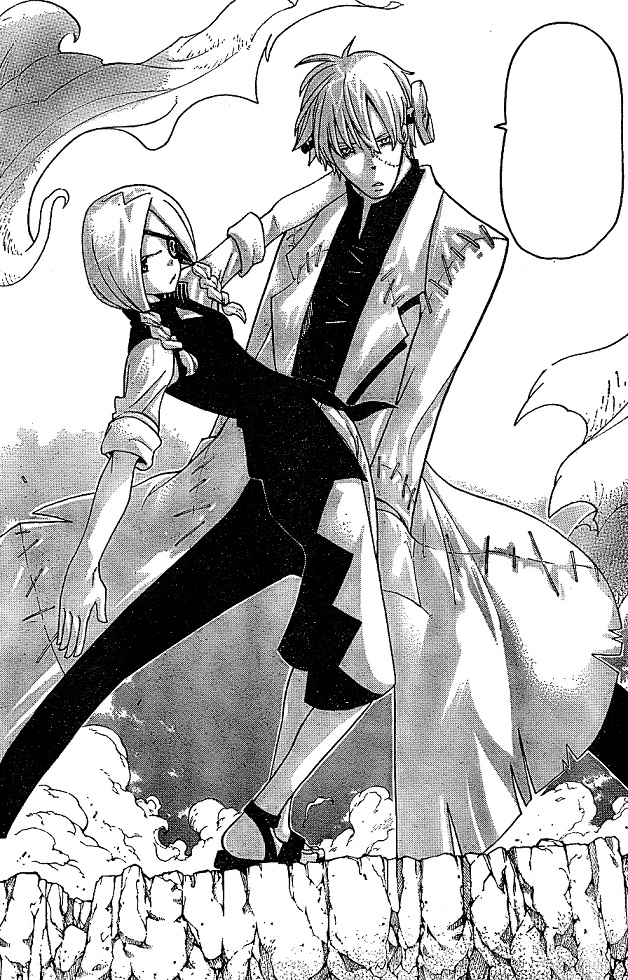 Soul Eater Stein and Marie pose together