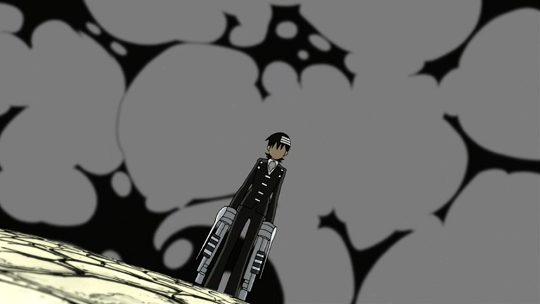Soul Eater Kid surrounded by smoke