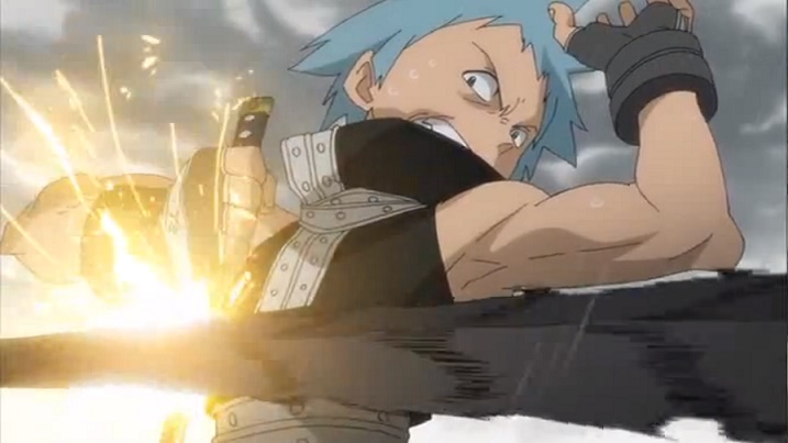 Soul Eater Black Star blocks attack