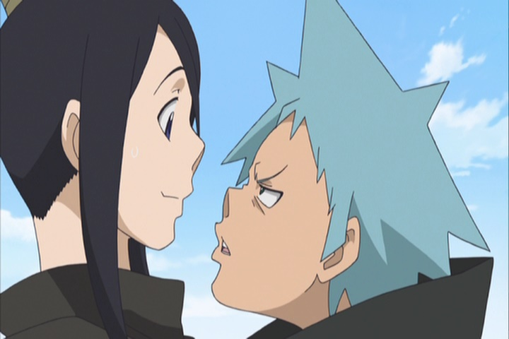 Soul Eater Tsubaki and Black Star face to face