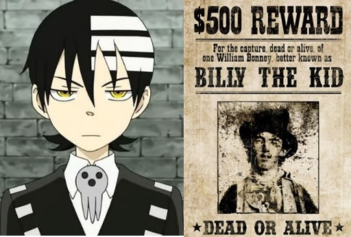 Soul Eater Billy the Kid Death the kid allusion