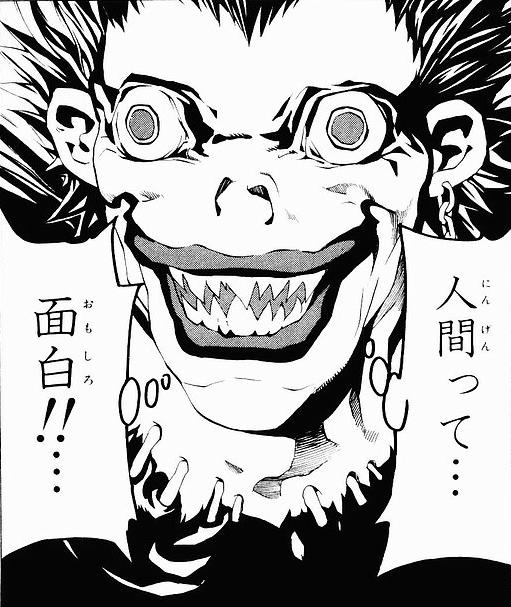 Death Note Ryuk humans are fun