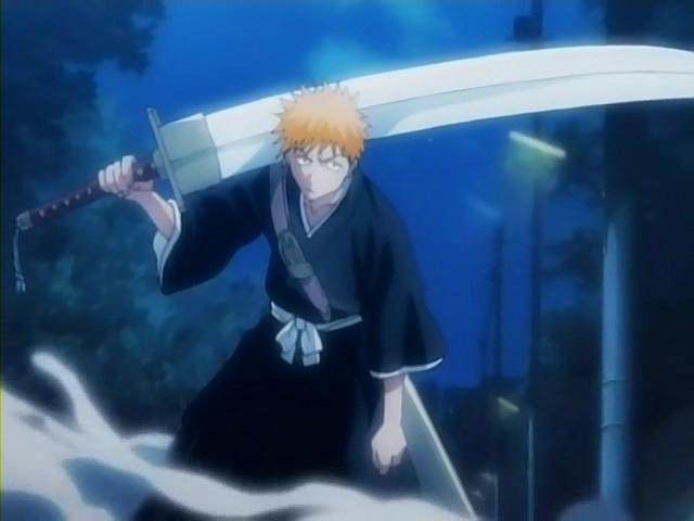 Ichigo and his Zanpakuto from Bleach
