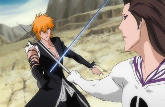 Ichigo and Aizen from Bleach