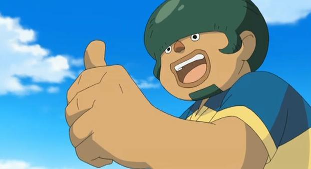 Inazuma Eleven Kabeyama thumbs up