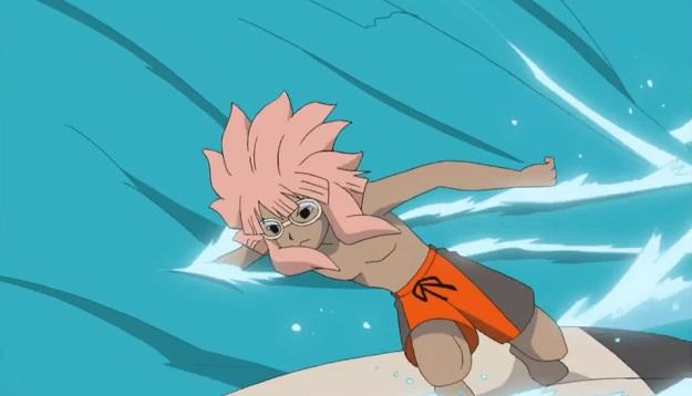 Inazuma Eleven Tsunami surfing