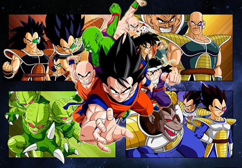 Dragon Ball Z Saiyan Saga feature characters