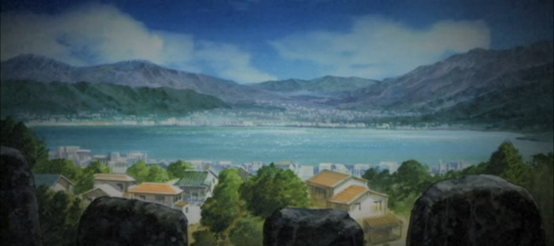 Blood-C Town and Lake Background
