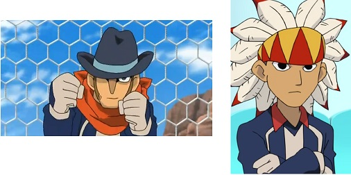 Inazuma Eleven Bill and Hawk
