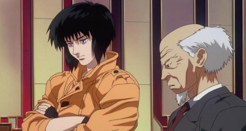Ghost in the Shell - Aramaki with Motoko