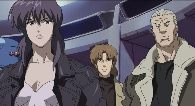 Ghost in the Shell - Batou with Motoko and Togusa