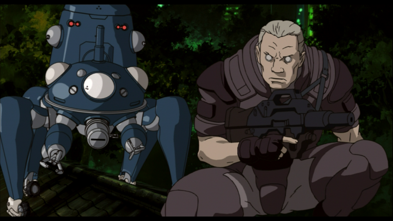 Ghost in the Shell - Batou with Tachikoma