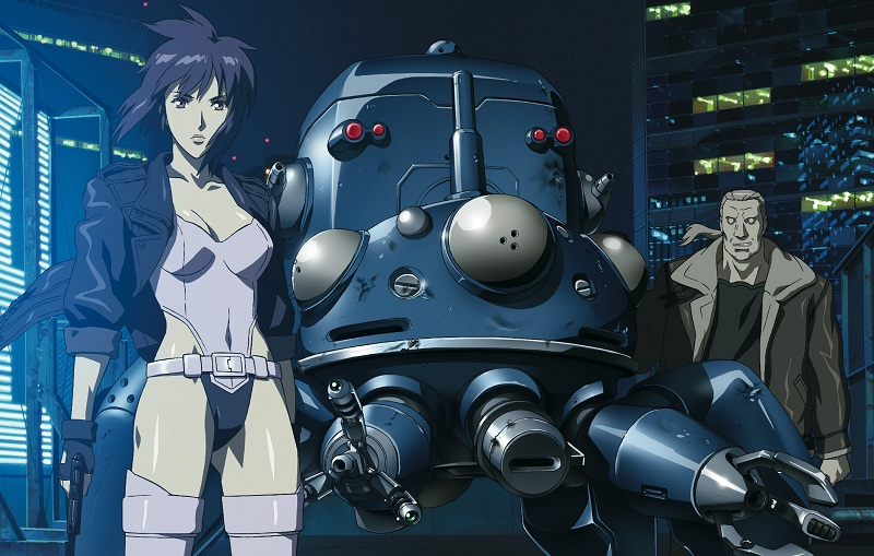 Ghost in the Shell - Motoko with Batou and Tachikoma