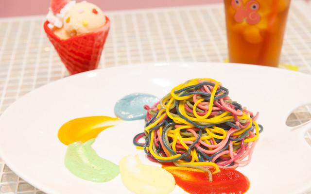 Kawaii Monster Cafe food spaghetti