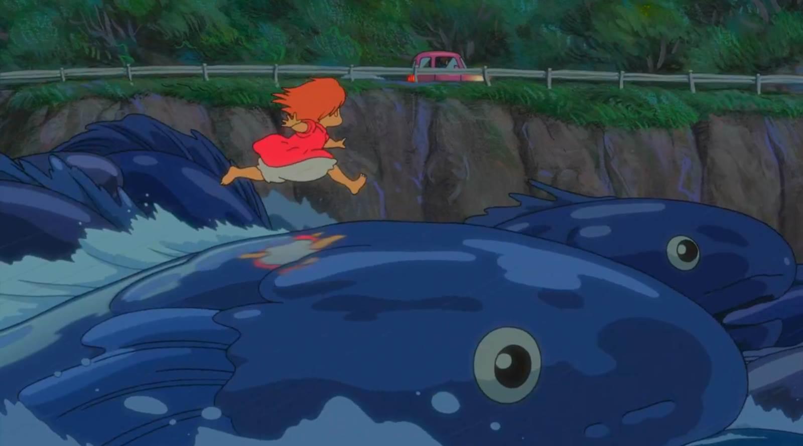Gake no Ue no Ponyo, Ponyo returning to land