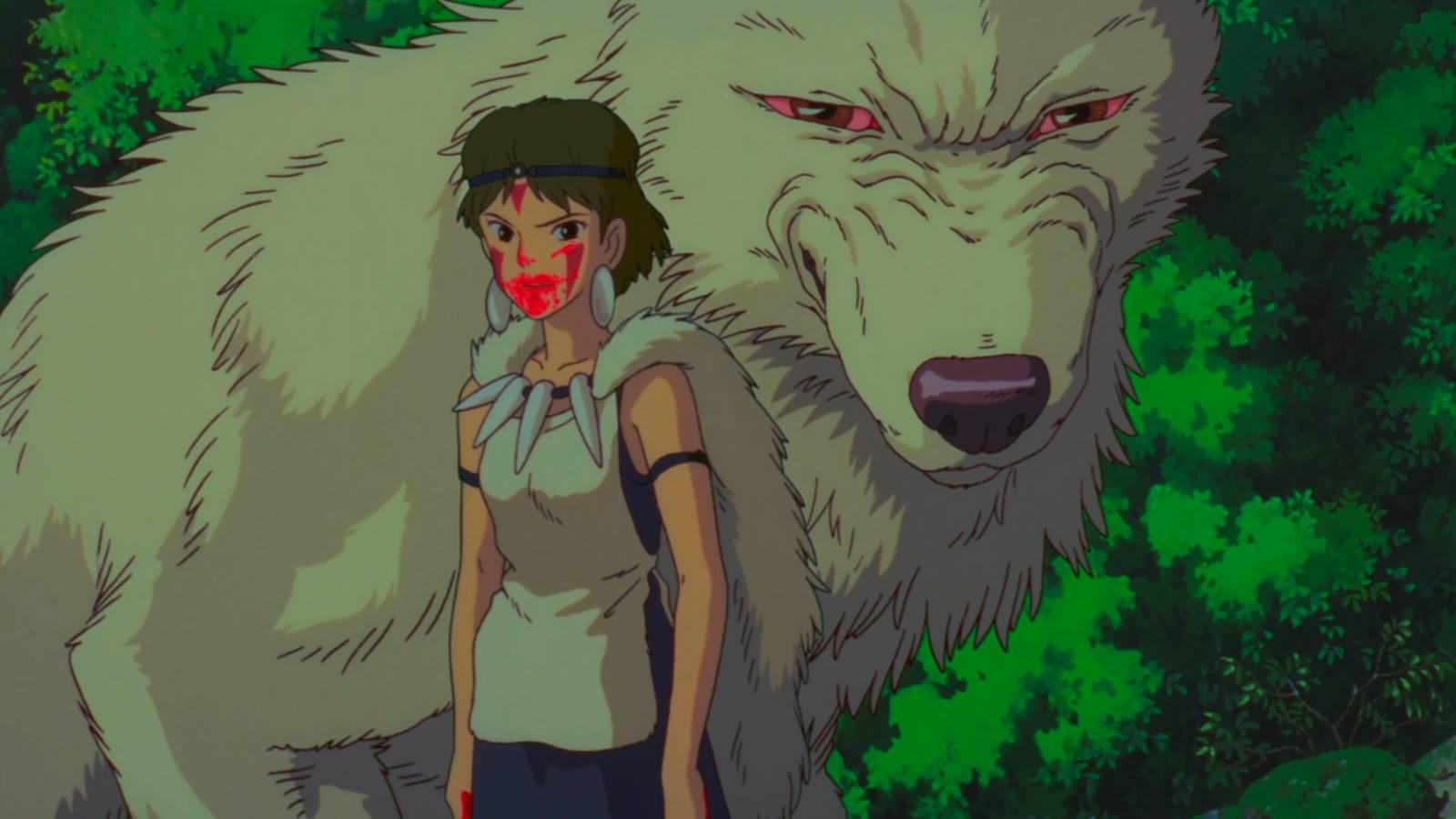 Mononoke Hime, The wolf-girl