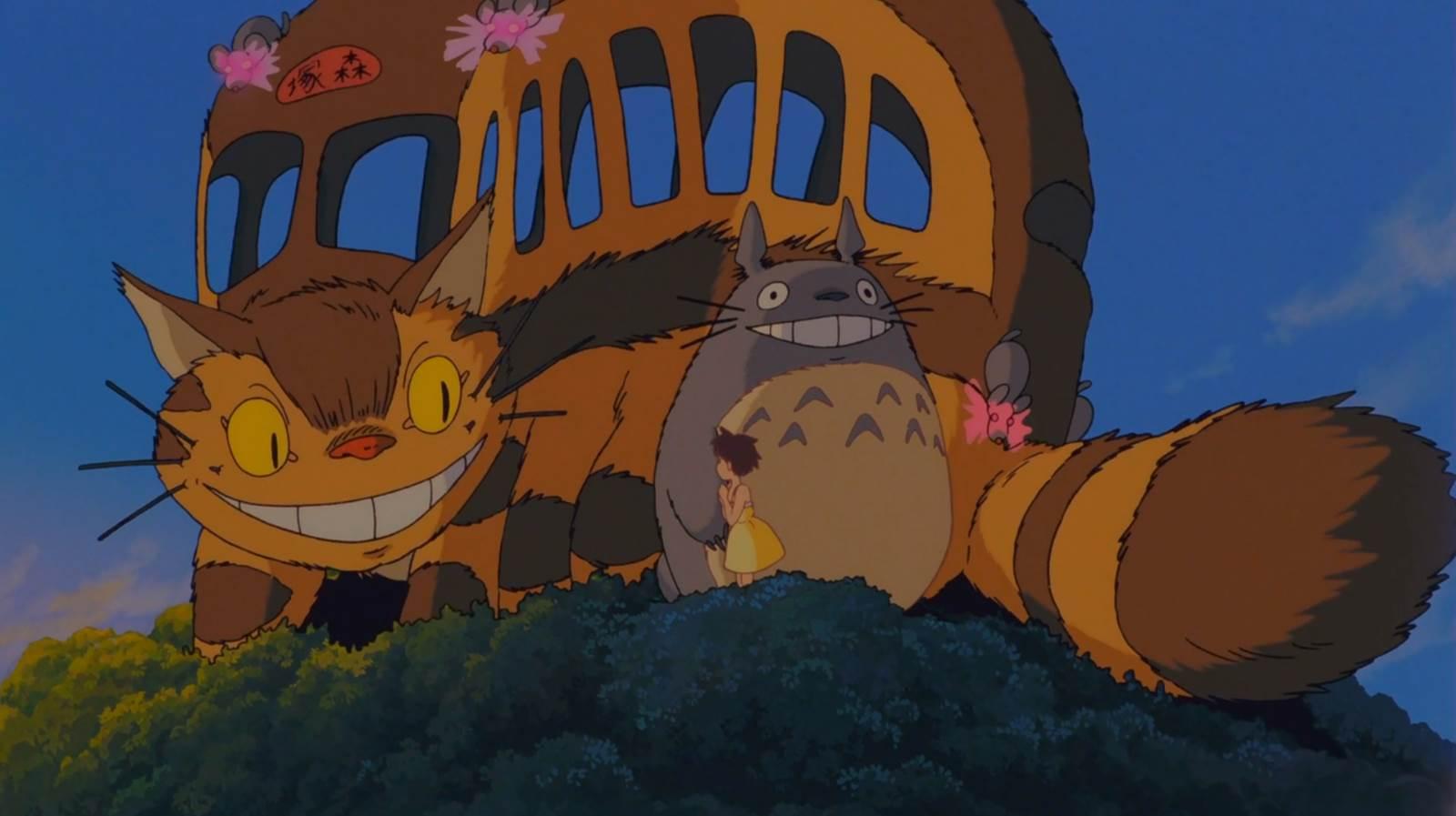 Tonari no Totoro, Satsuki, Totoro, and the cat-bus