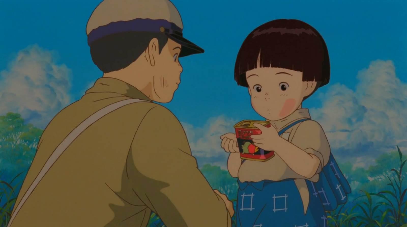 Hotaru no Haka, Setsuko learning to save