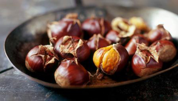 Autumn Japanese Foods Roasted Chestnuts