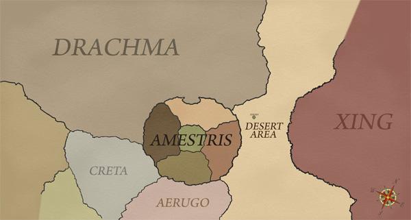 World map for Fullmetal Alchemist