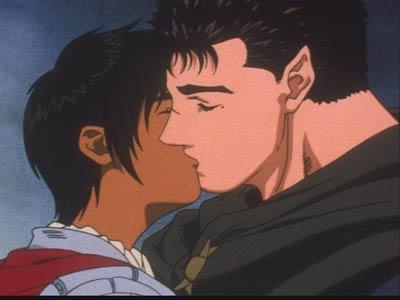 Berserk Guts and Casca Kiss