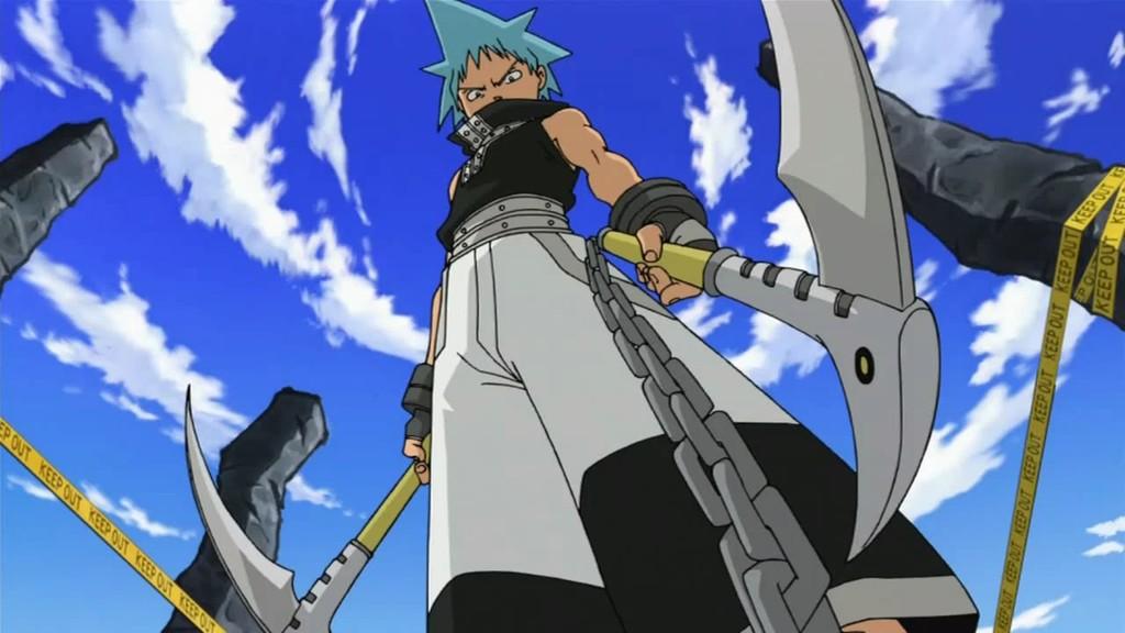Soul Eater Black Star Tsubaki Chain Scythe