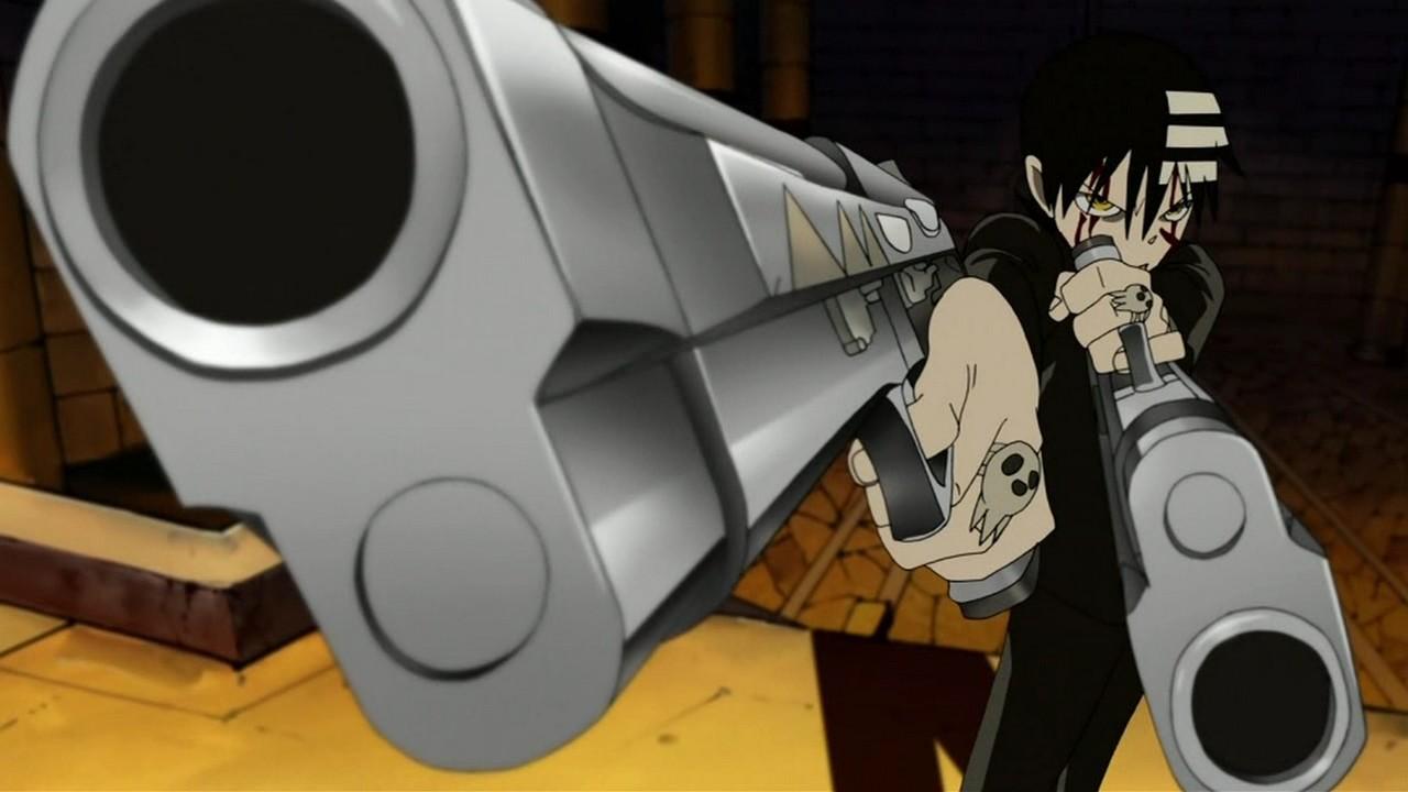 Soul Eater Death the Kid Thompson Demon Twin Guns