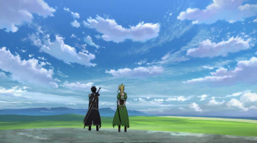 Sword Art Online Leafa Kirito Wide
