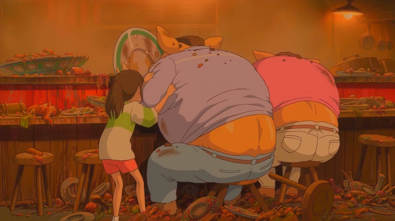 "Sen to Chihiro no Kamikakushi, ""Quit eating!"""