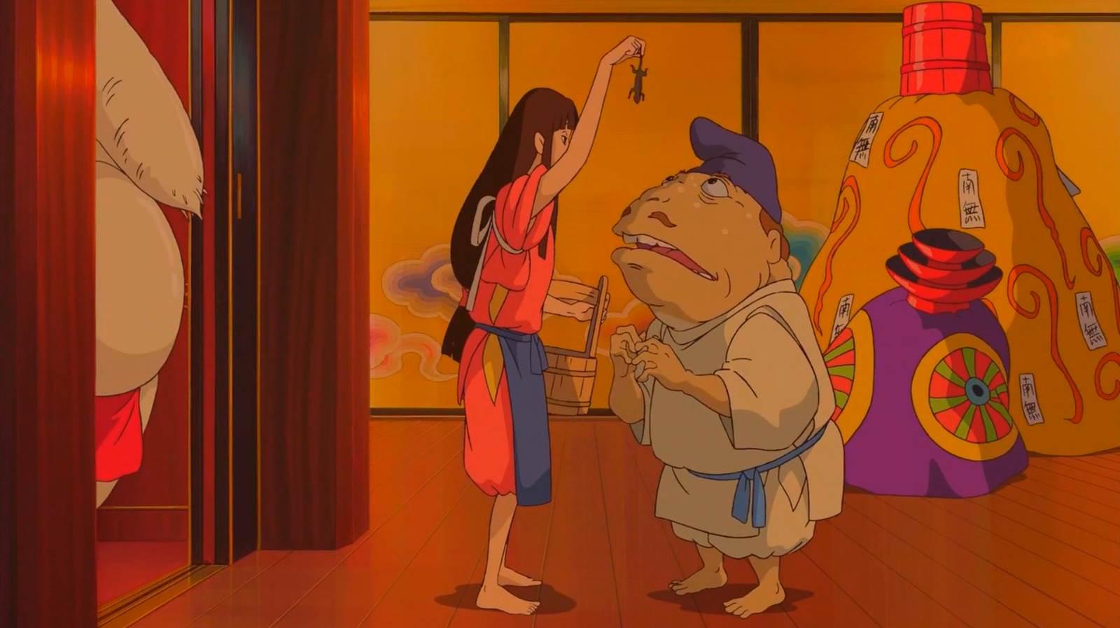 Sen to Chihiro no Kamikakushi, Roasted newt