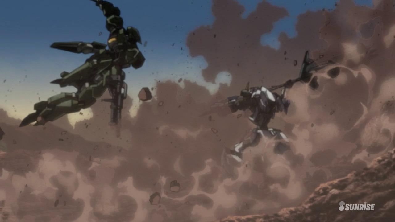 Mobile Suit Gundam: Iron Blooded Orphans robots battle