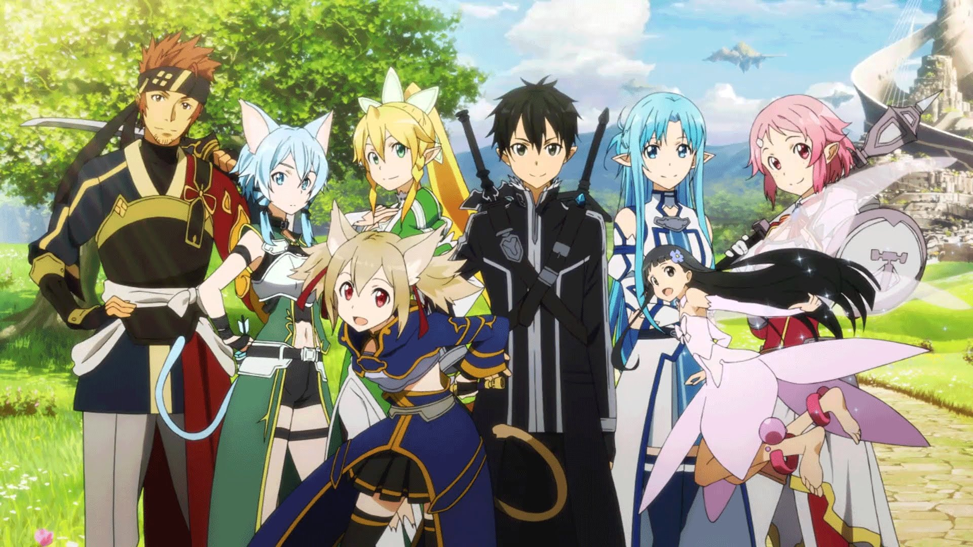 Sword art online ii alheim online and gun gale online players questing together