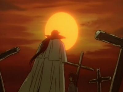 Rurouni Kenshin Seijuro Hiko and Kenshin Himura