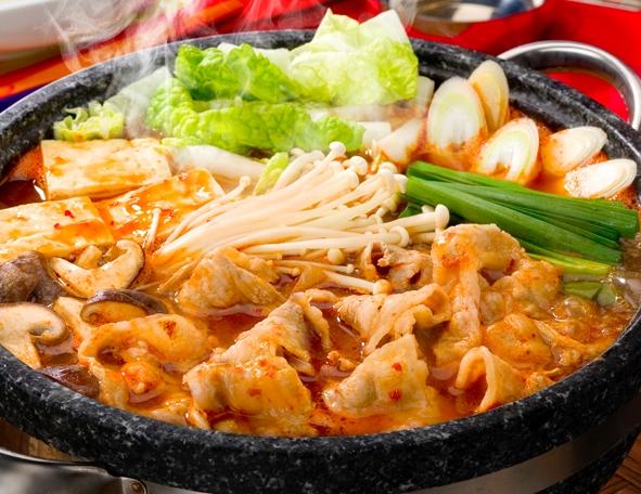 Winter Japanese Foods Kimuchi Nabe