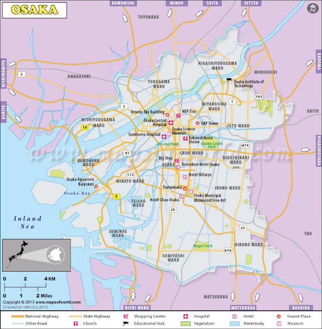 Osaka City Map