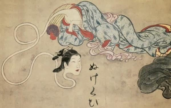 Strange Creatures from Japanese Folklore Rokurokubi